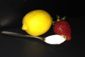 Baking Soda with Lemon or Strawberry